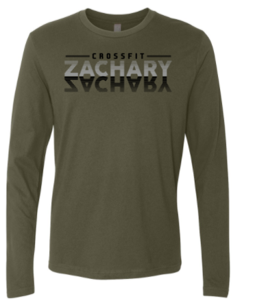 CrossFit Zachary - Mirror Logo Adult Long Sleeve Tee *Available in 2 Color Options
