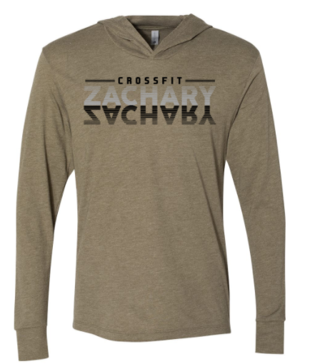 CrossFit Zachary - Mirror Logo Adult Long Sleeve Hooded Tee *Available in 2 Color Options