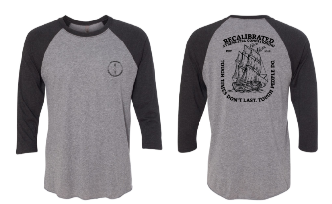 Recalibrated - Tough Time Unisex 3/4 Sleeve Raglan *Available in 2 Color Options