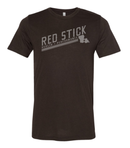 Red Stick Tonal Logo:  Adult Unisex Short Sleeve Tee *Available in 5 Color Options