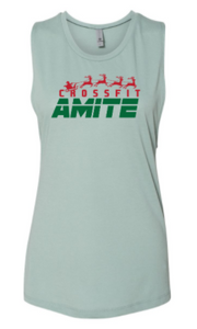CrossFit Amite Christmas Ed:  Ladies Muscle Tank *Available in 2 Color Options