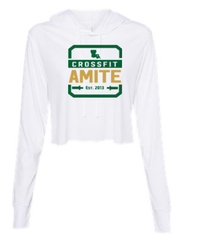 CrossFit Amite Logo:  Ladies Cropped Hoodie *Available in 2 Color Options