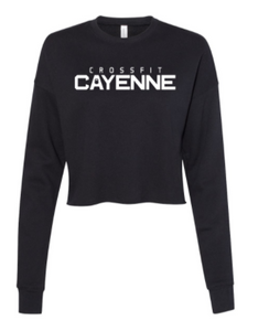 CF Cayenne:  Cropped Crew Fleece *Available in 2 Color Options