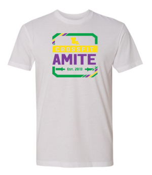 CrossFit Amite Mardi Gras Ed. Logo:  Unisex Tee *Available in 3 Color Options