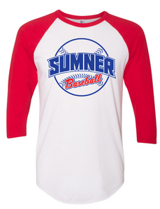 White/Red Colorblock Raglan