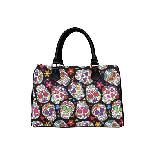 SUGAR SKULLS  Barrel Type Handbag (Model 1621)