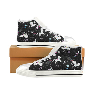 UNICORNS High Top Canvas Kid's Shoes (Model017)
