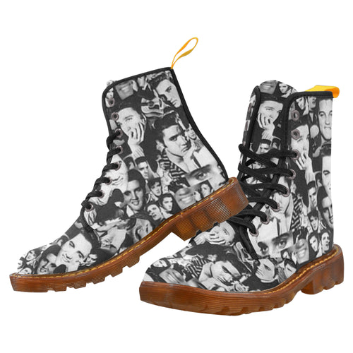 ELVIS 2 Women's Lace Up Canvas Boots (Model1203H)