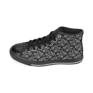 DITZY BONES High Top Canvas Kid's Shoes (Model017)