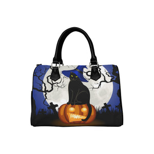 HALLOWEEN CAT Barrel Type Handbag