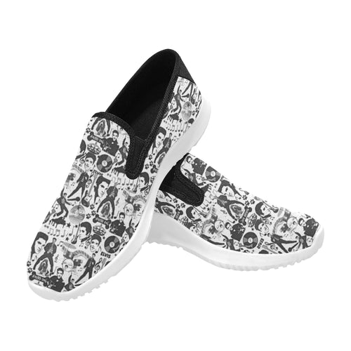 ELVIS Slip-on Canvas Men's Sneakers (Model042)