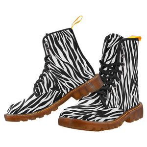 ZEBRA Women's Lace Up Canvas Boots (Model1203H)