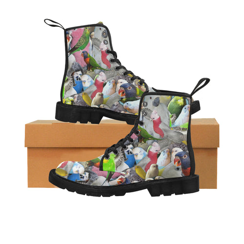 PARROTS DOWN UNDER Women's Lace Up Canvas Boots (Model1203H)