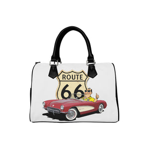 ROUTE 66 CORVETTE Barrel Type Handbag (Model 1621)