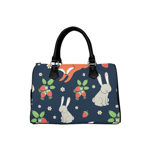 RETRO BUNNIES NAVY Barrel Type Handbag (Model 1621)