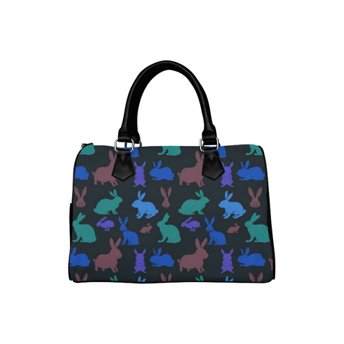 RETRO BUNNIES BLACK Barrel Type Handbag (Model 1621)