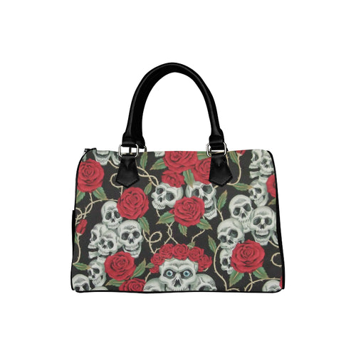RED ROSES SKULLS Barrel Type Handbag (Model 1621)