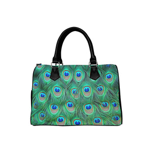 PEACOCK FEATHERS Barrel Type Handbag (Model 1621)