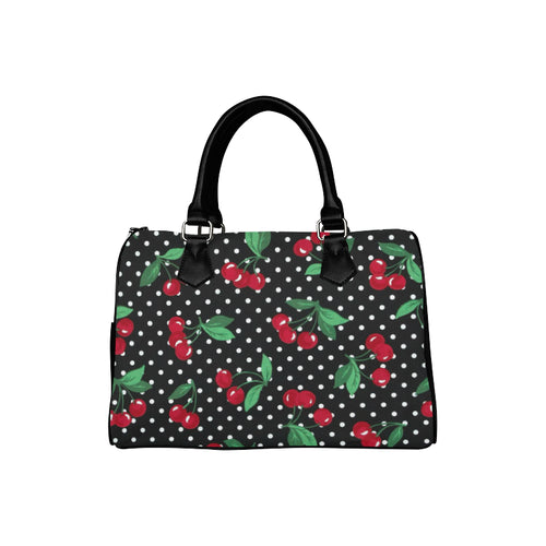CHERRY POLKA DOT Barrel Type Handbag (Model 1621)