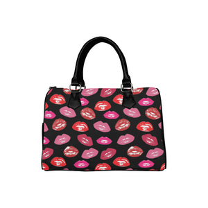 LIPS INC BLACK Barrel Type Handbag (Model 1621)
