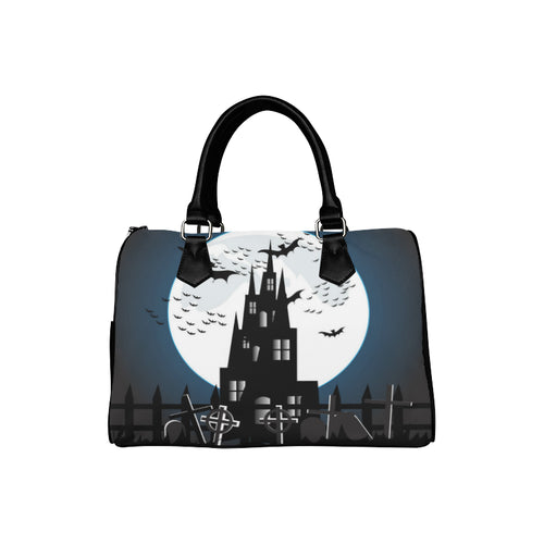 SPOOKY CASTLE Barrel Type Handbag (Model 1621)