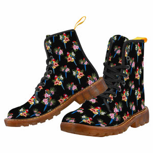 EASTERN ROSELLAS Women's Lace Up Canvas Boots (Model1203H)