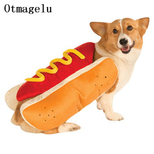 Funny Pet Cat Dog Sausage Costumes Small Dog Apparel Clothes For Halloween Party Hamburger Cosplay Costume Cloak Dog Accessories