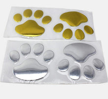 cat footprint golden slivery metallic color PVC car sticker auto parts automobile accessory car decoration