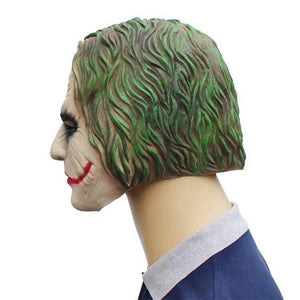 Movie Batman Joker Clown Cosplay Mask Latex Costume Party Props