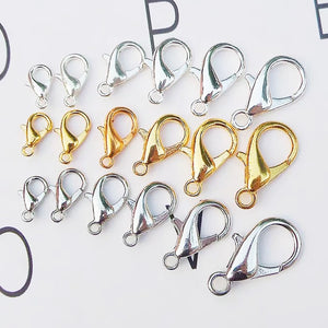 50pcs/lot Stainless Steel Lobster Clasp Hooks End Clasps Connectors for Necklace&Bracelet  Fashion Jewelry Findings