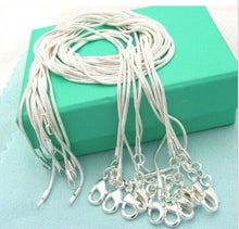 10 pcs / lot Promotion! Wholesale S925 Silver color Necklace, Fashion - Jewelry Snake Chain 1mm Necklace 16 18 20 22 24 ""