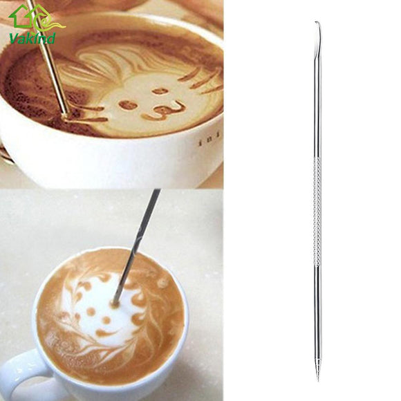 Useful Stainless Steel Barista Cappuccino Latte Espresso Coffee Decorating Pen Art Household Kitchen Cafe Tool - Tienda Gelukkig