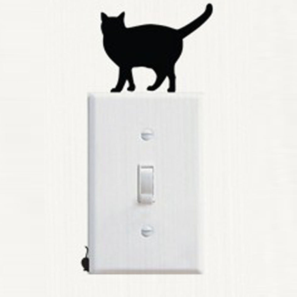 switch stickers cat vinyl switch stickers decal Wall Stickers Living Home Decor For Kids Rooms adesivo de parede - Tienda Gelukkig