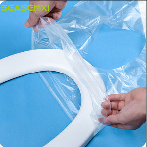 6Pcs Travel Safety Plastic Disposable Toilet Seat Cover WC Mat Waterproof Toilet Pad Bathroom Accessories Biodegradable Sanitary