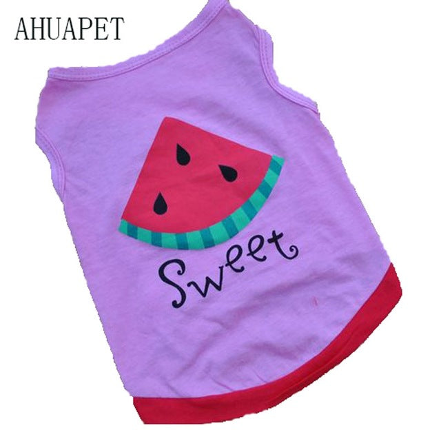 Purple Watermelon Pet cCothes Cat Shirt