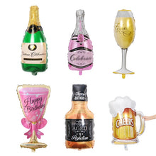 Large Foil Champagne Cup Beer Balloons Wedding Anniversary Wine Bottle Cup Balloon Valentine's