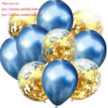 10pcs/lot Mixed Gold Confetti Balloons Birthday Party Decoration Metallic Balloon Air Ball Birthday Ballon Jungle Party Decor