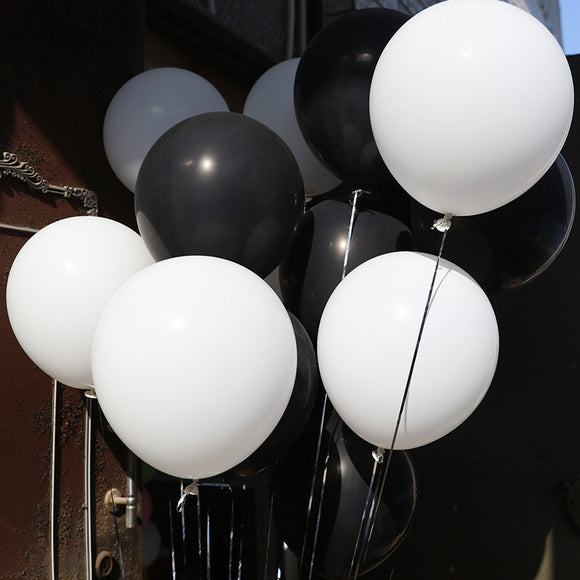 30pcs/lot 2.8g Pearl Black White Silver Latex Balloons Birthday Wedding Party Decorations Air Helium balloons Kids Gifts