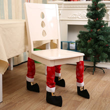 Just 1pc 2019 Table Leg Chair Foot Covers Xmas Party Decoration Navidad Xmas Funny Christmas Table Decor New Year Holiday Favor