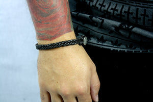 Leather Laced Bracelet.