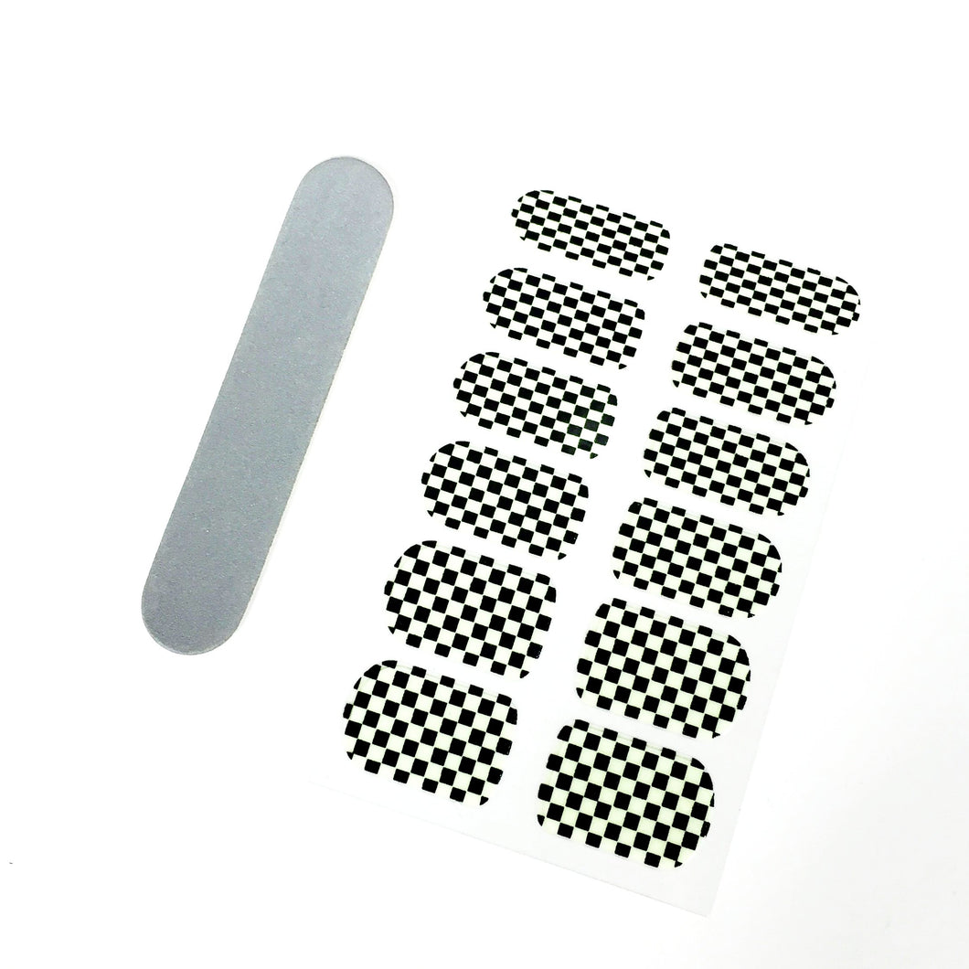 Glow Checkered Nail Decals - Stinnys