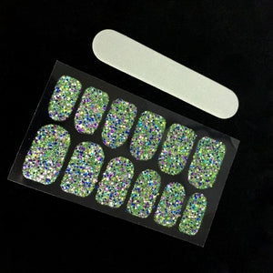 Green Glitter Nail Decals - Stinnys