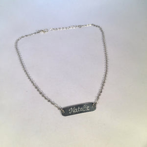 Engraved Name Necklace.