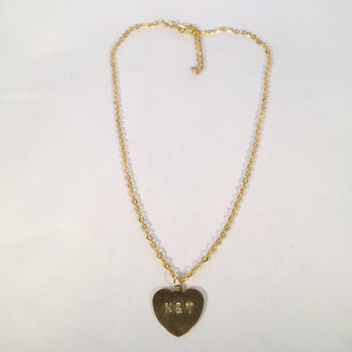 Initial Heart Plate Necklace.