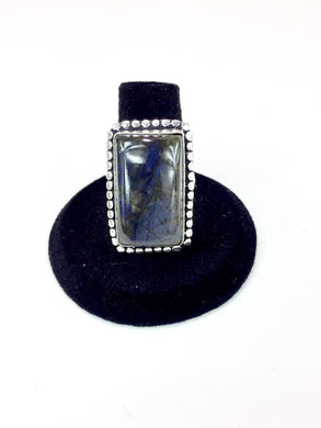 Rectangle Labradorite Ring O.O.A.K..
