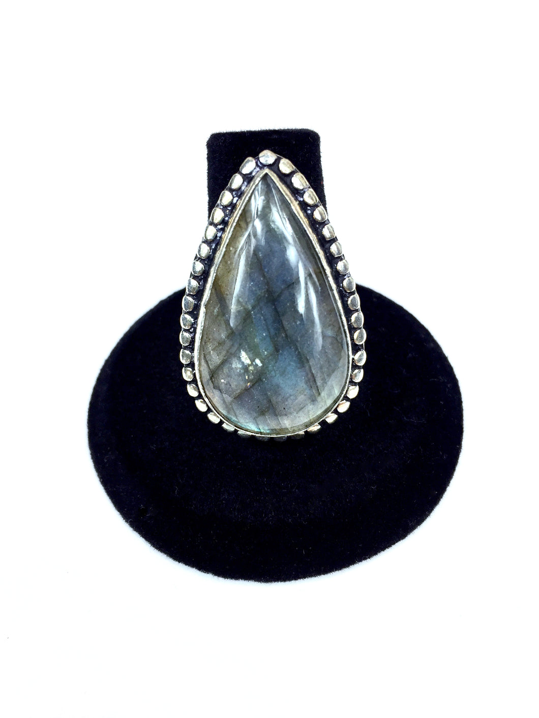 Long Labradorite Teardrop Ring O.O.A.K. - Stinnys