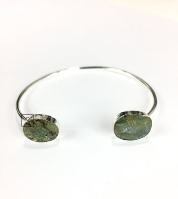 Silver Turquoise Stone Bangle.