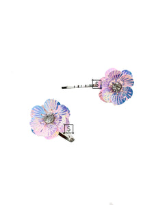 Iridescent Floral Hair Clips - Stinnys