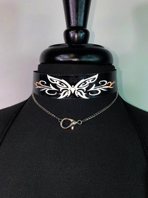 Butterfly ReflectivePVC Choker (customizable)
