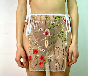Blossom Panel Tie Skirt